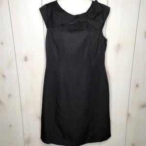 Sandra Darren Black Pinstripe Dress